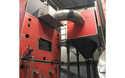 Heißgasfilter zur Abgasreinigung einer Hackschnitzelfeuerung